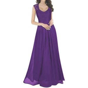 Purple maxi dress size large